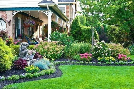 Landscape Flower Beds Beautiful Garden Design And Yard Landscaping